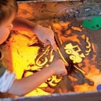 Световой экран для рисунков из песка