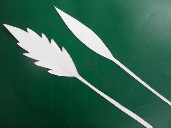 Поделки из бумаги изготовление листьев