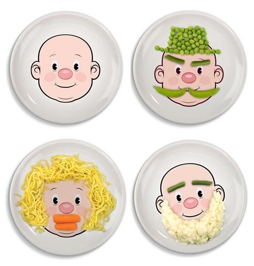 Играйте с едой или лица нарисованные с помощью еды