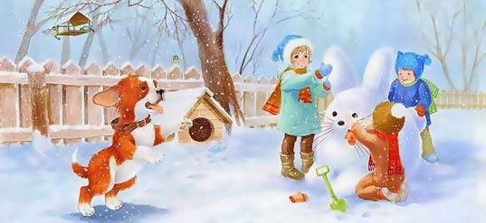 Зимние загадки для детей