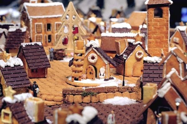 Городок из имбирного печенья