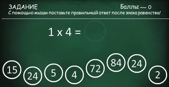 Таблица умножения - изучаем играя!