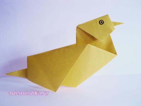 Оригами: Уточка